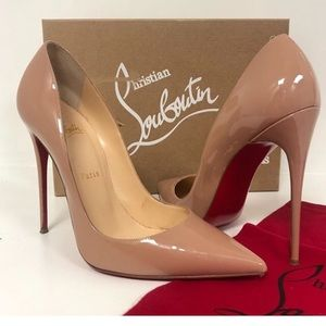 Christian Louboutin So Kate Nude Patent Leather